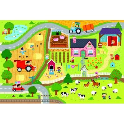Trefl-90753 Riesen-Bodenpuzzle - Der Bauernhof