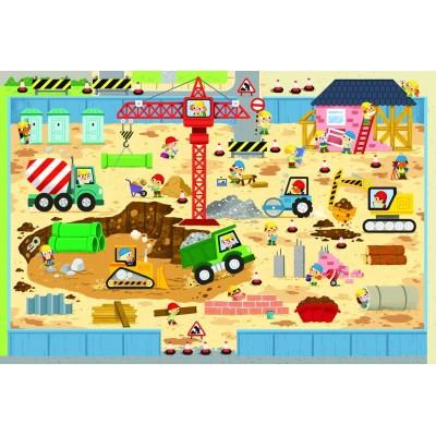 Trefl-90755 Riesen-Bodenpuzzle - Baustelle