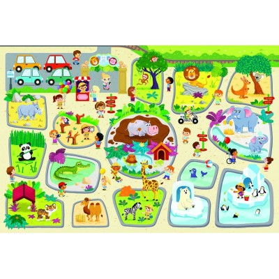 Trefl-90756 Riesen-Bodenpuzzle - Zoo