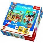 Trefl-90790 2 Puzzles + Memo - Paw Patrol