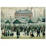Wentworth-560604 Holzpuzzle - Market Scene, Northern Town, 1939