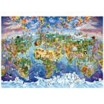 Wentworth-702513 Holzpuzzle - World Wonders