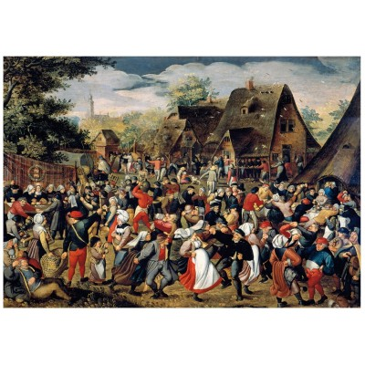 Wentworth-760904 Holzpuzzle - Brueghel - The Village Festival