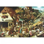 Wentworth-RMN225 Holzpuzzle - Pieter Brueghel: Netherlandish Proverbs