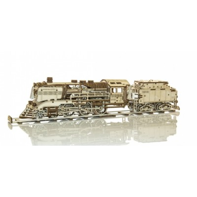 Wooden-City-WR323-8473 3D Holzpuzzle - Wooden Express + Tender with rails