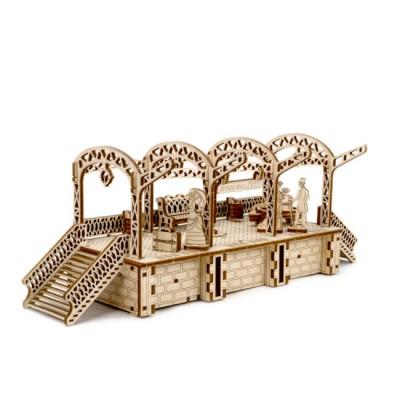 Wooden-City-WR325-8497 3D Holzpuzzle - City Tram