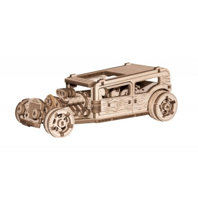 Wooden-City-WR339-8701 3D Holzpuzzle - Hot Rod
