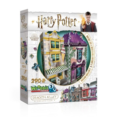 Wrebbit-3D-0510 3D Puzzle - Harry Potter - Madam Malkin's & Florean Fortescue's Ice Cream