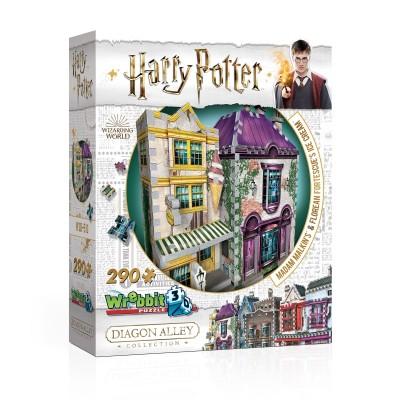 Wrebbit-3D-0510 3D Puzzle - Harry Potter (TM) - Madam Malkin's & Florean Fortescue's Ice Cream