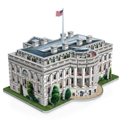 Wrebbit-3D-1007 Puzzle 3D - Weisses Haus